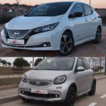 Comparativa de coches eléctricos, Nissan Leaf 2018 vs. Smart FourFour EQ