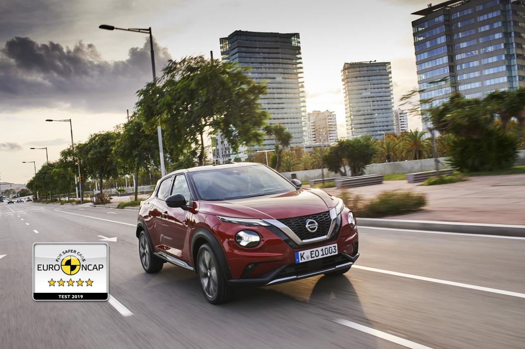 El nuevo Nissan JUKE obtiene la máxima puntuación Euro NCAP 2019