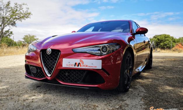 Al volante del Alfa Romeo Giulia Quadrifoglio 2019