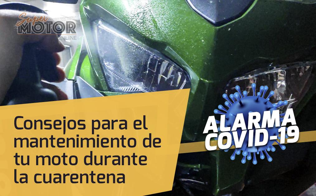 Consejos para el mantenimiento de tu moto durante la cuarentena