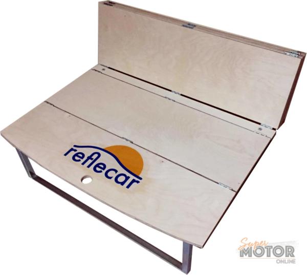 Cama CAMPER de maletero con tablero de madera