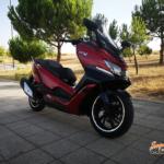 Rodando con la Daelim XQ2 300 2020