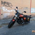 Rodando con la Moto Guzzi V9 Bobber Sport 2020