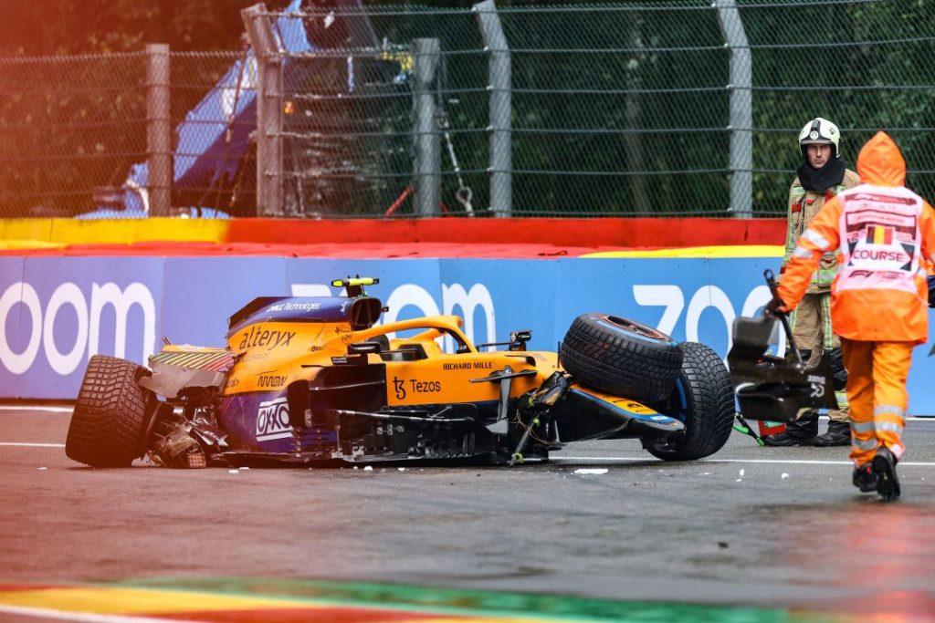 McLaren Lando Norris accidente Q3 GP Belgica