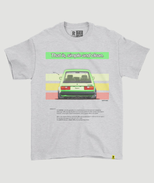 "Camiseta ""Golf Mk1 GTI Rainbow"""